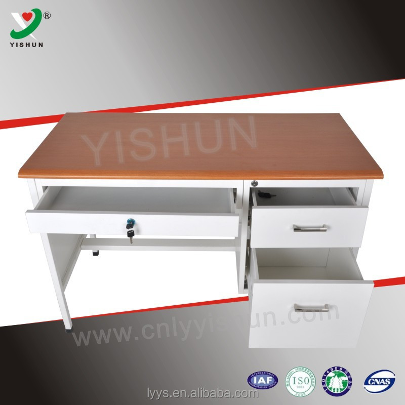 Steel Office Desk With Locking Drawers / Used Metal Computer Desk   Buy  Computer Desks With Locking Drawers,Metal Office Desk,Office Computer Desk  Product ...