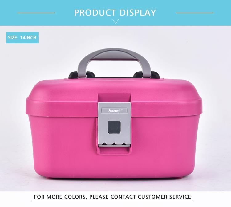 Lady Professional Fashion Cosmetic Bag Train Case