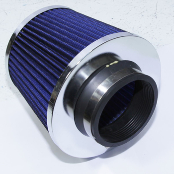 "Fits all cars and trucks Cold Air Intake Universal 3"" Air Filter Open Turbo Filter Blue"