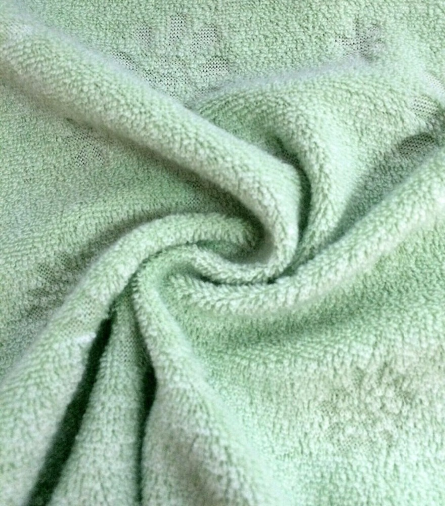 wholesale custom jacquard embossed bath terry towel fabric for upholstery blanket