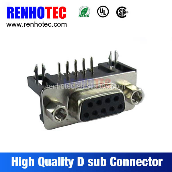 In Stock D-sub Connector 9 Pins Female Computer Wires Cables and RF Connector
