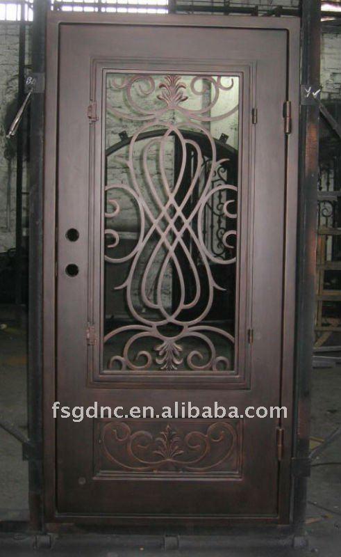 Superior cuadrada de metal puerta puertas identificaci n for Puertas de metal con vidrio modernas