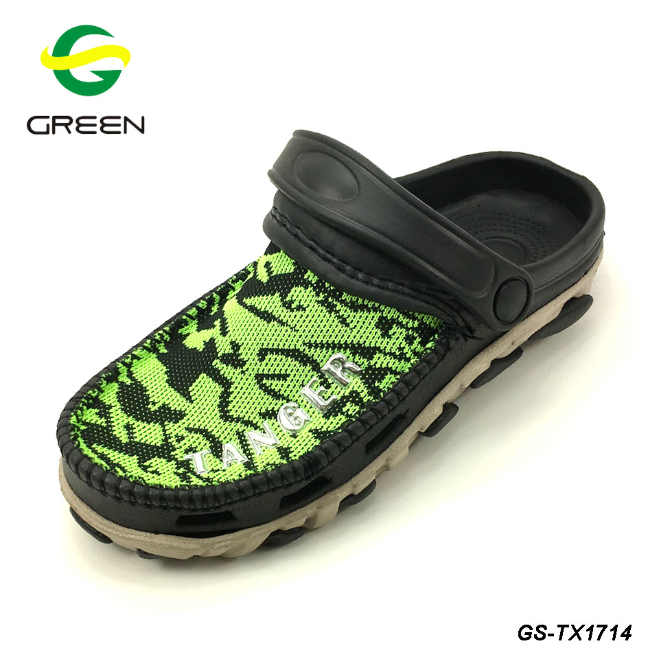 Greenshoe new cheap kid garden shoes eva and fabric clog kid shoes children