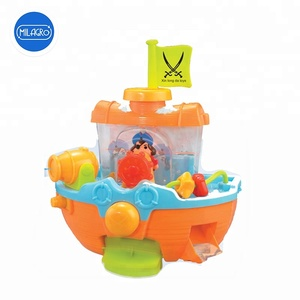 Pirate ship boat water cannon spray baby bath play time water fun bath toy