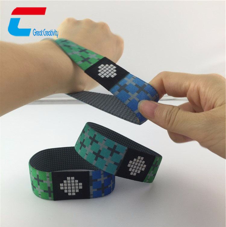 Elastic Fabric Bracelets Reusable NFC 팔찌 끈/Stretch 짠 RFID 팔찌