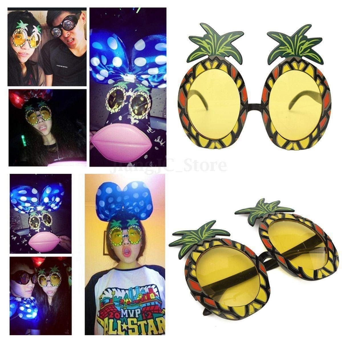 NPLE--Pineapple Sunglasses Eye Glasses For Hawaiian Beach Party Fancy Dress Costume YZ