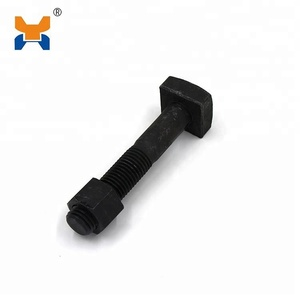 railway fastener black Fish bolts and nuts m24 bolt grade 8.8