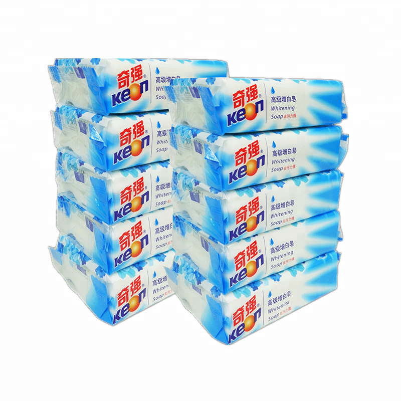 High quality pure white cheap laundry bar soap with TFM 72%