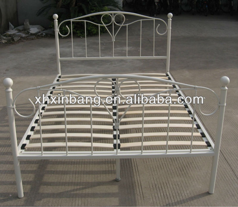 High quality cream Metal Bed Frame