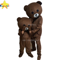 Funtoys CE Wholesale brown bear mascot costume for adult