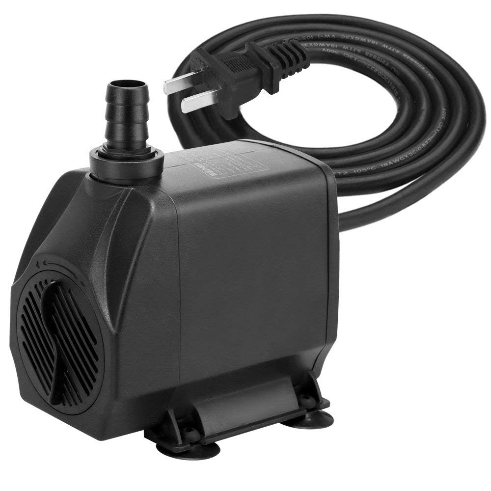 songyi 880GPH Submersible Pump(4000L/H, 100W), Ultra Quiet Water Pump with 13ft (4M) High Lift,Fountain Pump with One Nozzle for Fish Tank, Pond, Aquarium, Statuary, Hydroponics