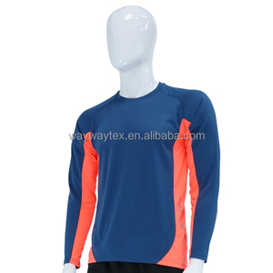 Men Long Sleeves Seamless Compression Baseball Tshirt Raglan Jersey Shirts