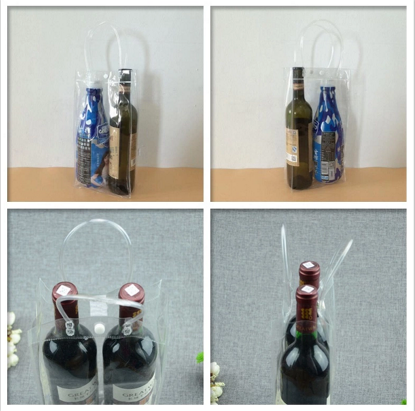 China Factory Top Quality pvc Red wine bag for gift