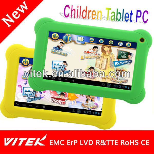 Latest 7 inch Parent control Kids Educational tablet pc android 4.2.2 free game