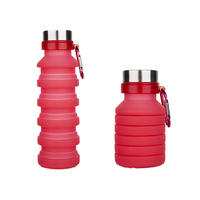2018 Newest Folding Portable Silicone Bottle Sports Collapsible Water Bottle
