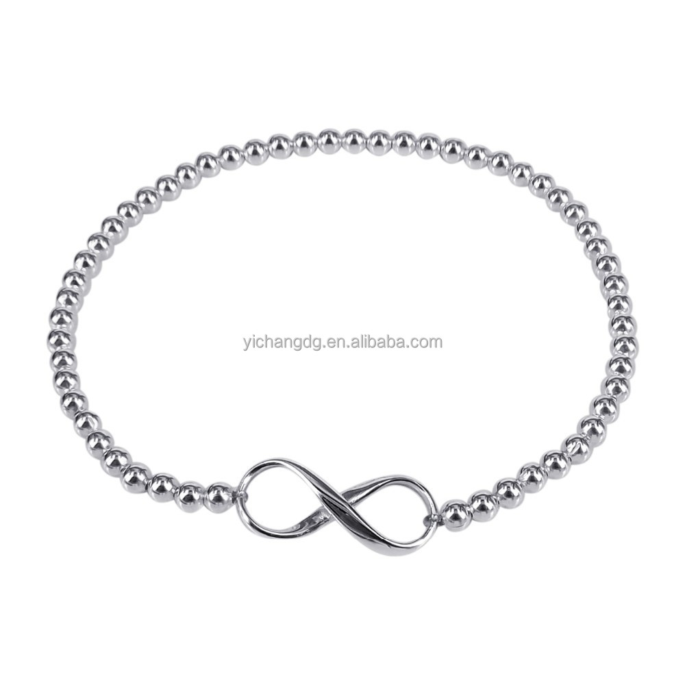 China Fashion Jewelry Endless Love Infinity Elastic Bead Bracelet