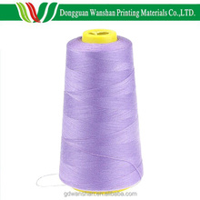 100% polyester embroidery spun thread, sewing yarn for hardcover book binding material