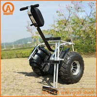 Big wheel electric all terrain hoverboard off road balance scooter with golf bracket