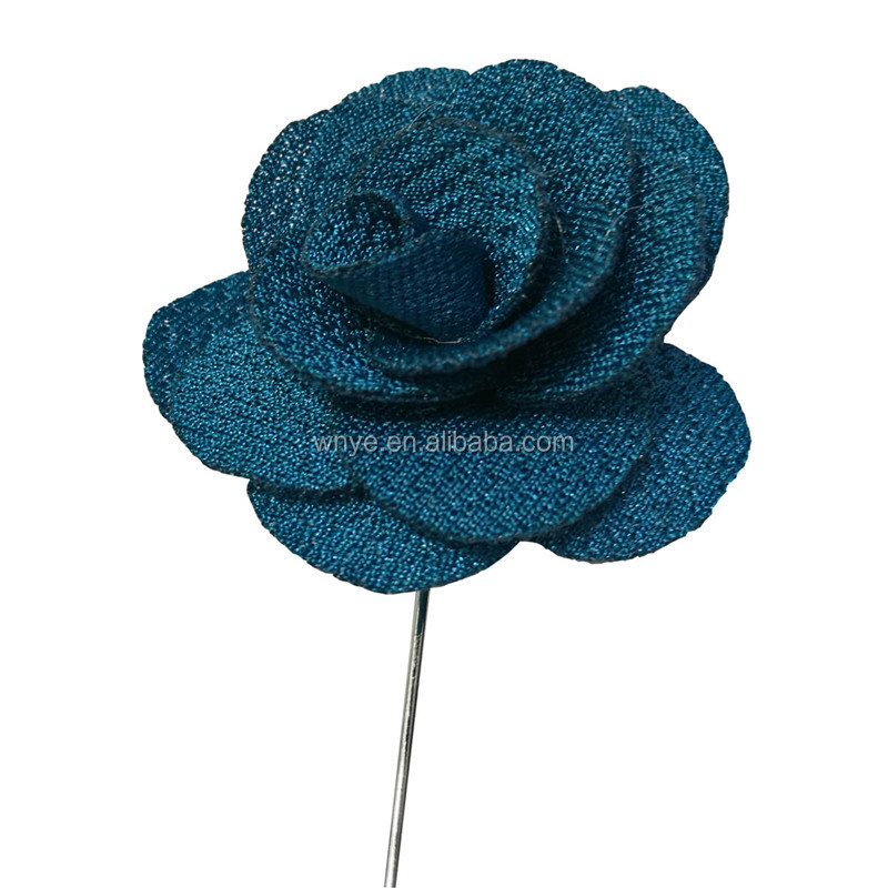 Rose Flower Handmade Tuxedo Suit Stick Pin Brooch
