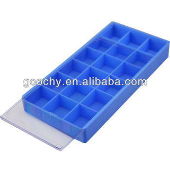 Small Plastic Watch Storage Tray With Lid 18 Compartments For