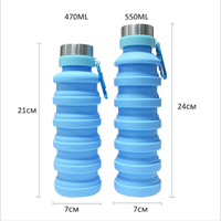 Hot selling summer Product eco-friendly outdoor Collapsible Reusable new idea design 550ml collapsible Water Bottle