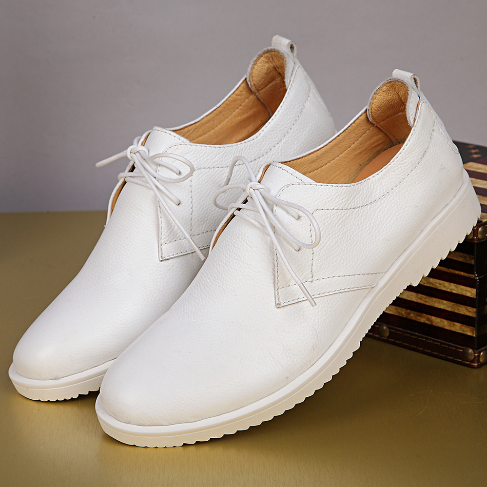 Online Kaufen Großhandel mens white casual dress shoes aus