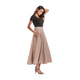 wholesale party dress for ladies maxi long pleated skirt for muslim women khaki skirt
