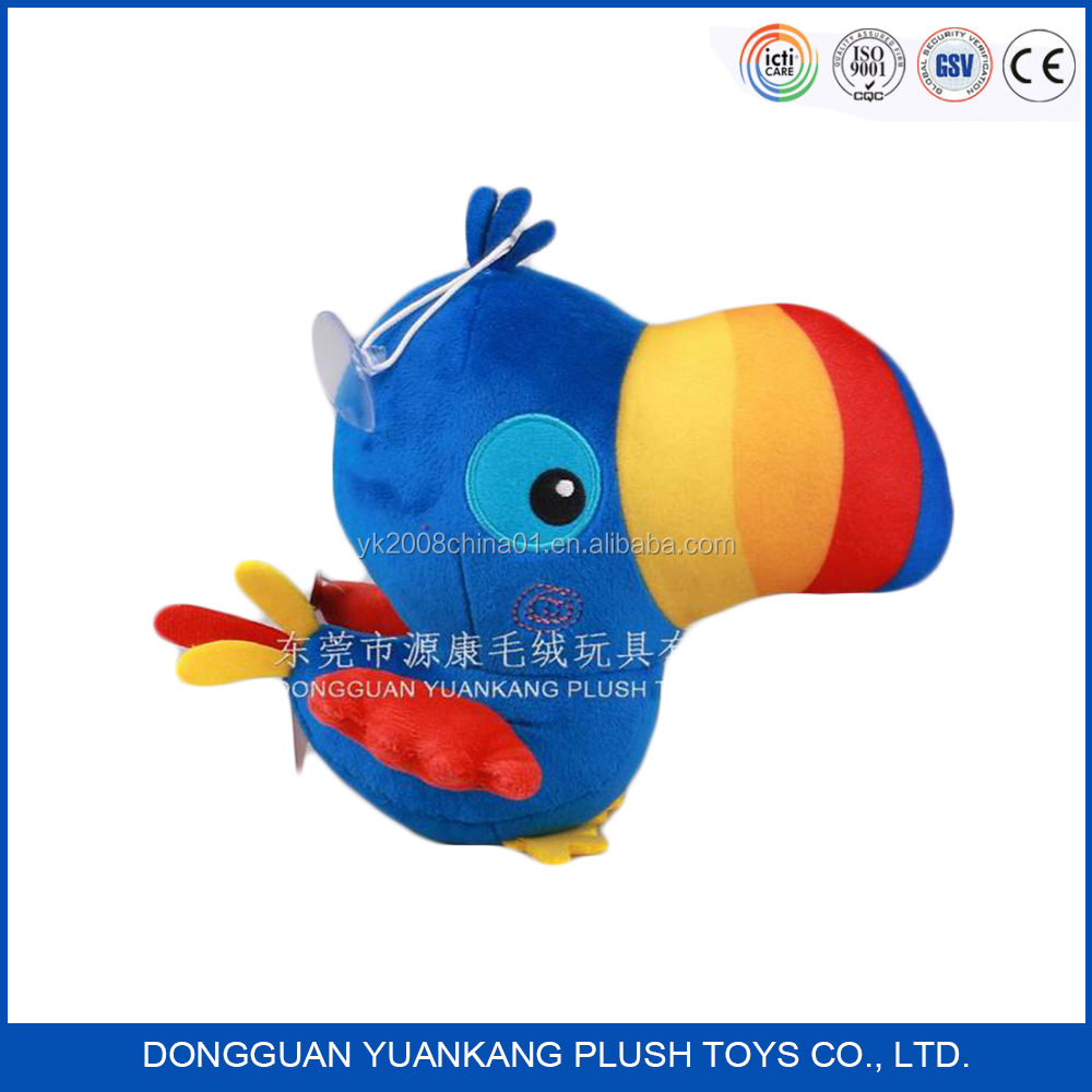 Guangdong toys factory soft plush toys bird for crane machines
