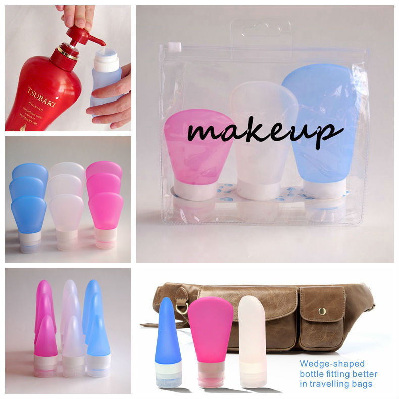 China Supplier New Products Squeezable Refillable Silicone Pormotional Gift Sets