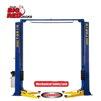 Tongrun Torin Bigred Clearfloor Asymmetric 4.5Ton/5ton 2 Post Car Lift CE Certified