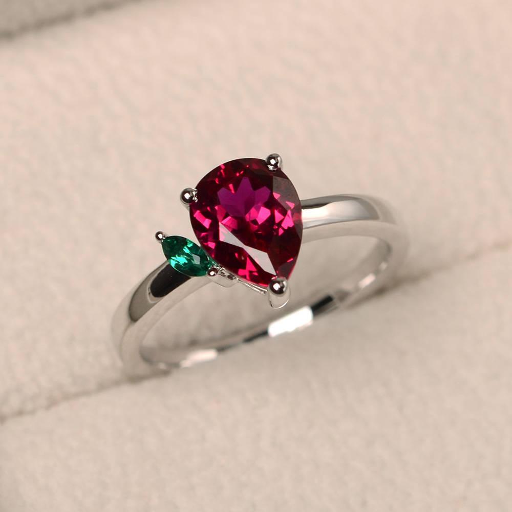 Hainon July new wedding engagement rings plating 925 silver birthstone ring wholesale фото