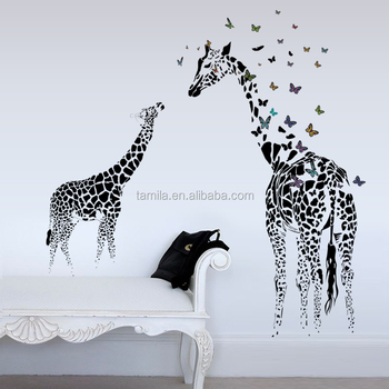 giraffe wall sticker for baby room/kid room/nursery cartoon animal