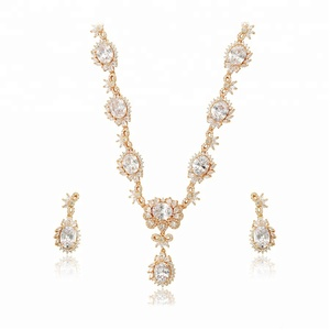set-120 Xuping Irregular dubai gold rosette Mexican jewelry set