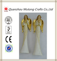 High quality abstract Golden wings angel statue for Home decoration
