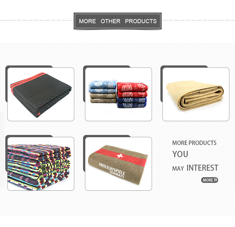 2018 Durable moving blankets furniture economy non woven padded furniture blankets ,traveling nonwoven transportation blanket
