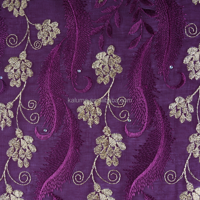 Embroidery Dry Cotton Lace Fabric With Stones High Quality African French Lace Fabric For Party Dresses 1584