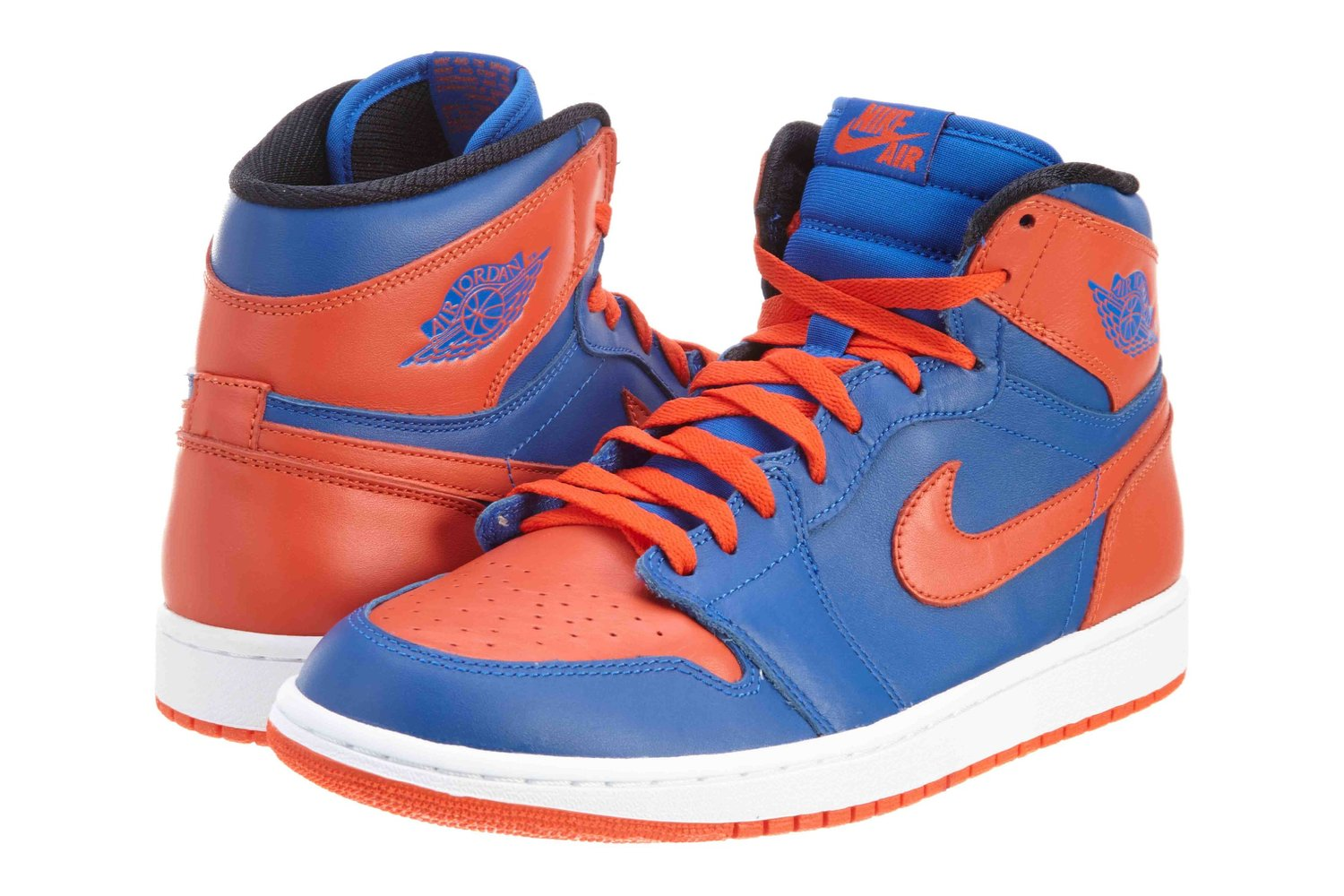 "Nike Mens Air Jordan 1 Retro High OG ""Knicks"" Leather Basketball Shoes"