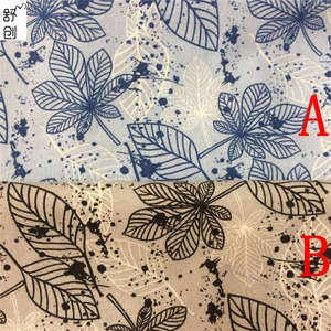 Hot fashion leaf patterns of cotton linen printed cloth