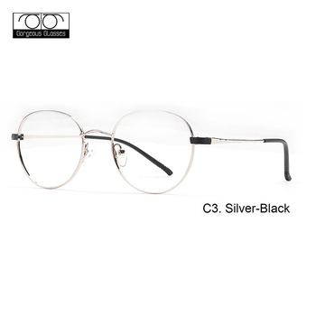 b265095766d Vintage Men Women Eyeglass Metal Frame Glasses Round Spectacles Clear Lens Optical  Frame