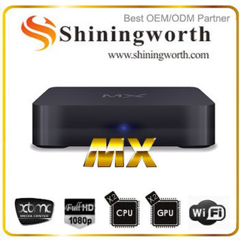 Dual Core MX Android Smart TV Box with IR Remote DLNA XBMC Android 4.2 Smart TV BOX US $0-50 / Piece (