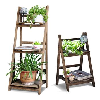 chelle pliante en bois plante pot de fleur pr sentoir. Black Bedroom Furniture Sets. Home Design Ideas