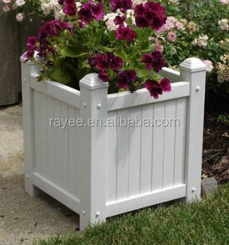 Foam Pvc Flower Box Planter For Road And Street Decorate Garden Pvc