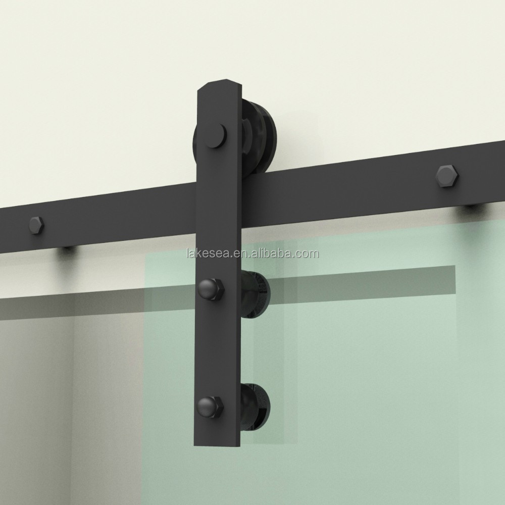 Cheap Black Carbon Steel Glass Sliding Barn Door Hardware