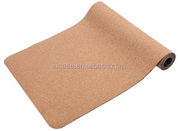 Eco Friendly Non Slip Natural Tpe Rubber Cork Yoga Mat