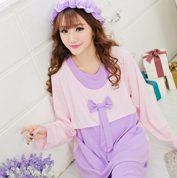 da747f3fea Cheapest fashion pregnancy nightdress plus size nursing sleepwear set  cotton maternity nightwear free shipping