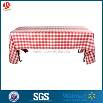 Everyday Use Printed Red Gingham Checkerboard Plastic Table Cover