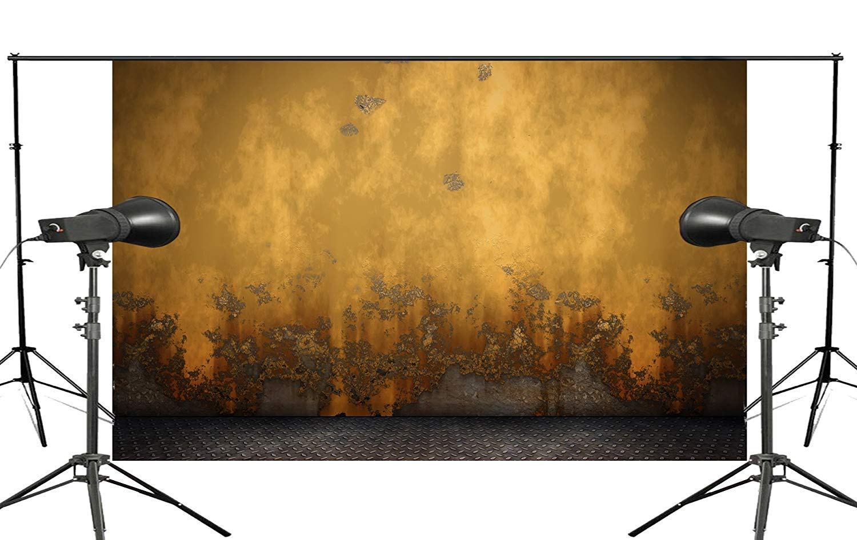 ERTIANANG Exquisite Yellow Worny Wall Photo Background Studio Retro Photo Props Background 150x210cm