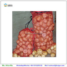 recyclable nylon polyester drawstring mesh bags for onion vegetable