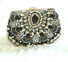 crystal beads embroidery luxury woman handbags, ladies evening bags party handbags
