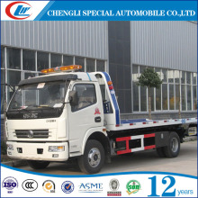 dongfeng Multipurpose recovery truck vehicle 125hp chinese pickup bedford trucks 4x2 turbocharger rollback tow trucks for sale